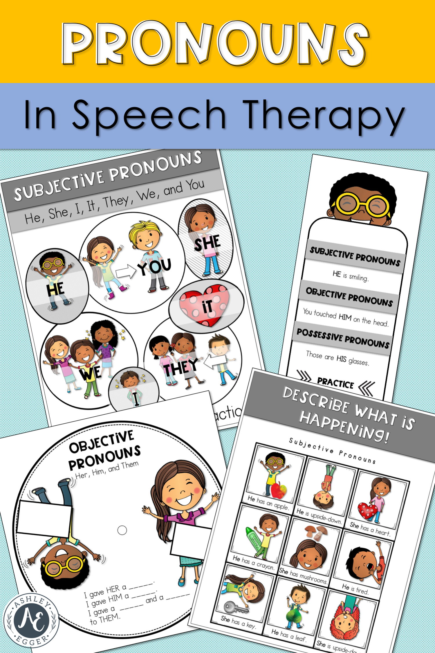 Pronouns Speech Therapy Games