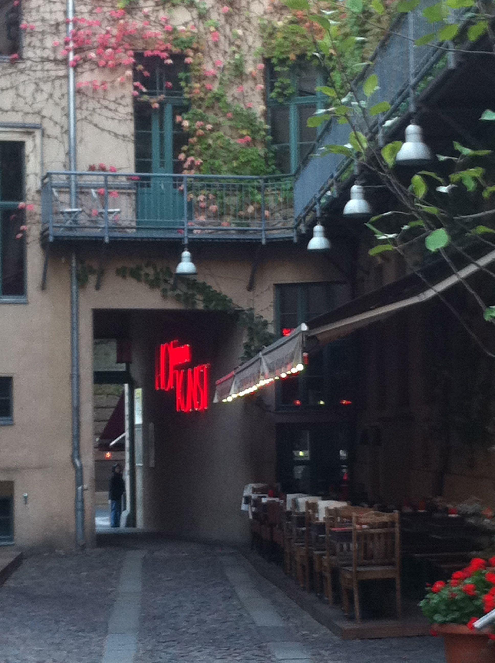 ღღ Hinterhof Restaurant Nahe Oranienstrasse Berlin