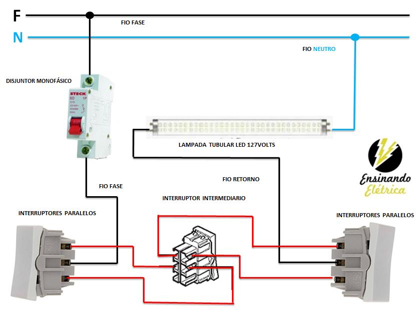 Como Ligar Lampadas Tubular De Led Ensinando Eletrica Dicas E Solucoes Em Eletricidade Eletricidade Eletrica Eletrica Residencial