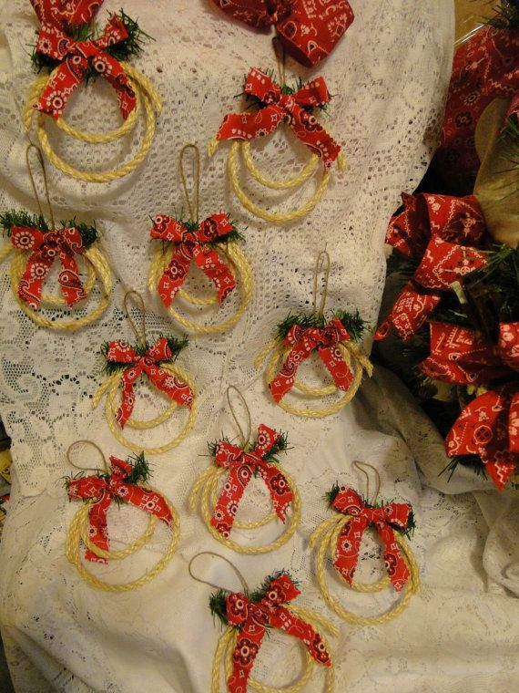 western cowboy christmas mini lariat rope ornaments set of 10 original handmade one at a time on etsy 2500