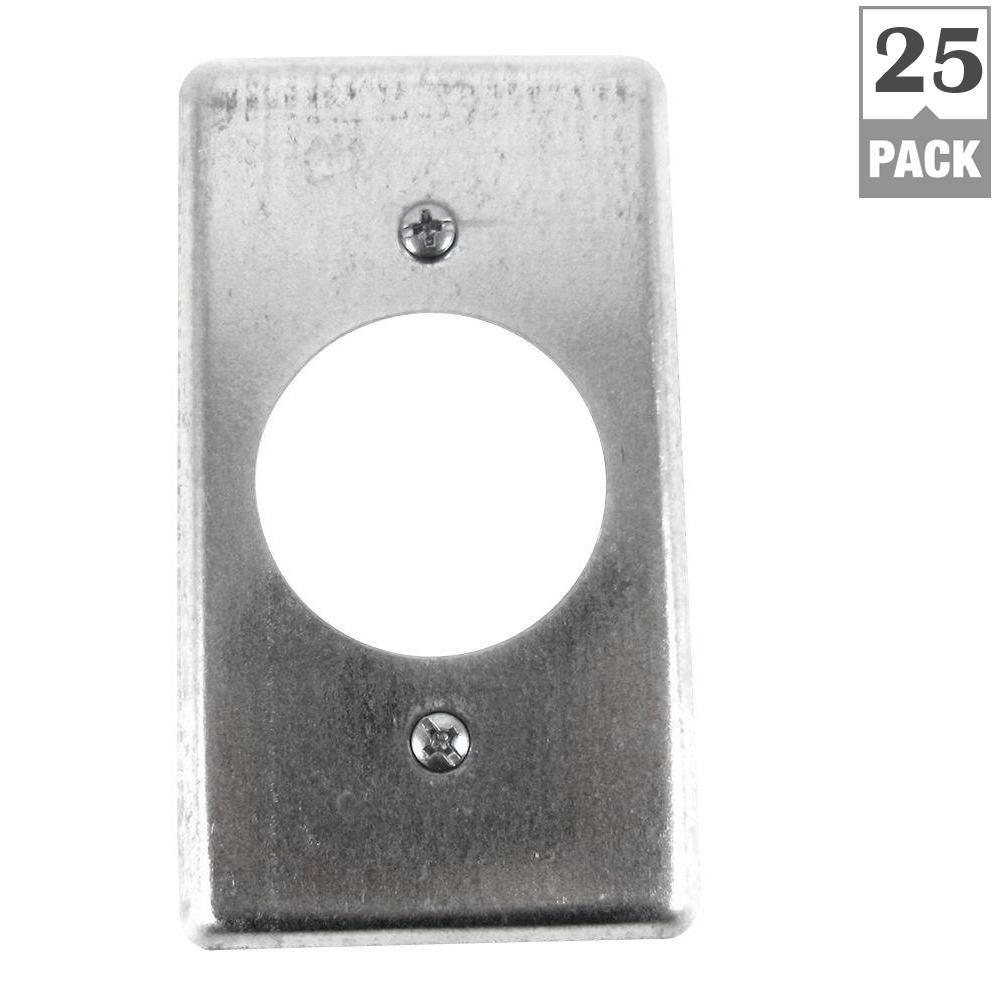 Steel City 1 Gang 4 In Metal Electrical Box Cover 25 Per Case Metal Electrical Box Covered Boxes Steel