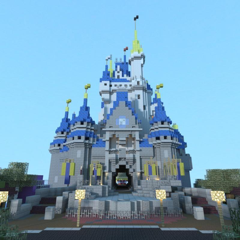 Disney castle minecraft minecraft pinterest construccin disney castle minecraft gumiabroncs Image collections