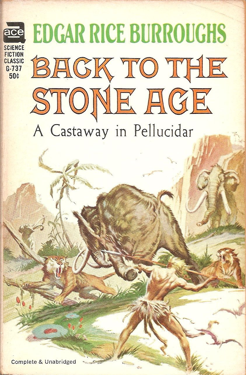 Back to the Stone Age - Edgar Rice Burroughs, cover by Roy Krenkel and Frank Frazetta