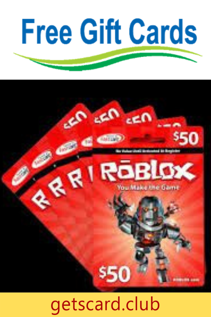 Free 50 Roblox Cards Pin Number In 2020 Roblox Gifts Roblox Gift Card