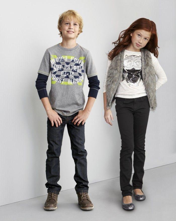 Arizona boys' graphic tee and boys' skinny jeans and Arizona girls ...