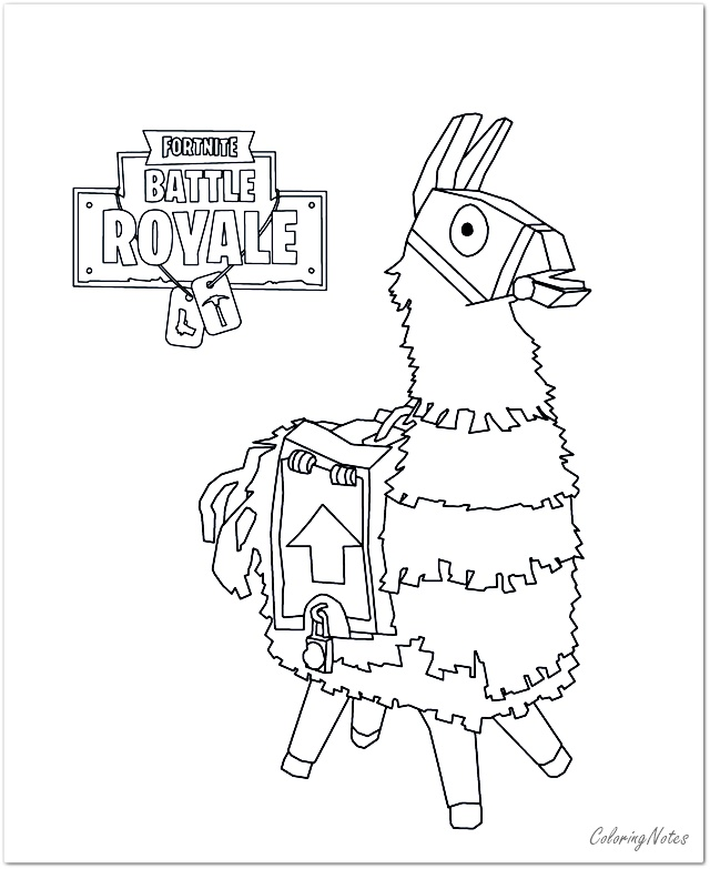 Fortnite Character Coloring Pages Llama In 2020 Coloring