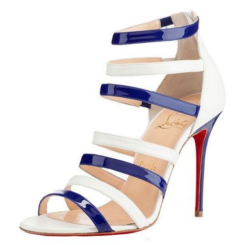 louboutin blue sandals