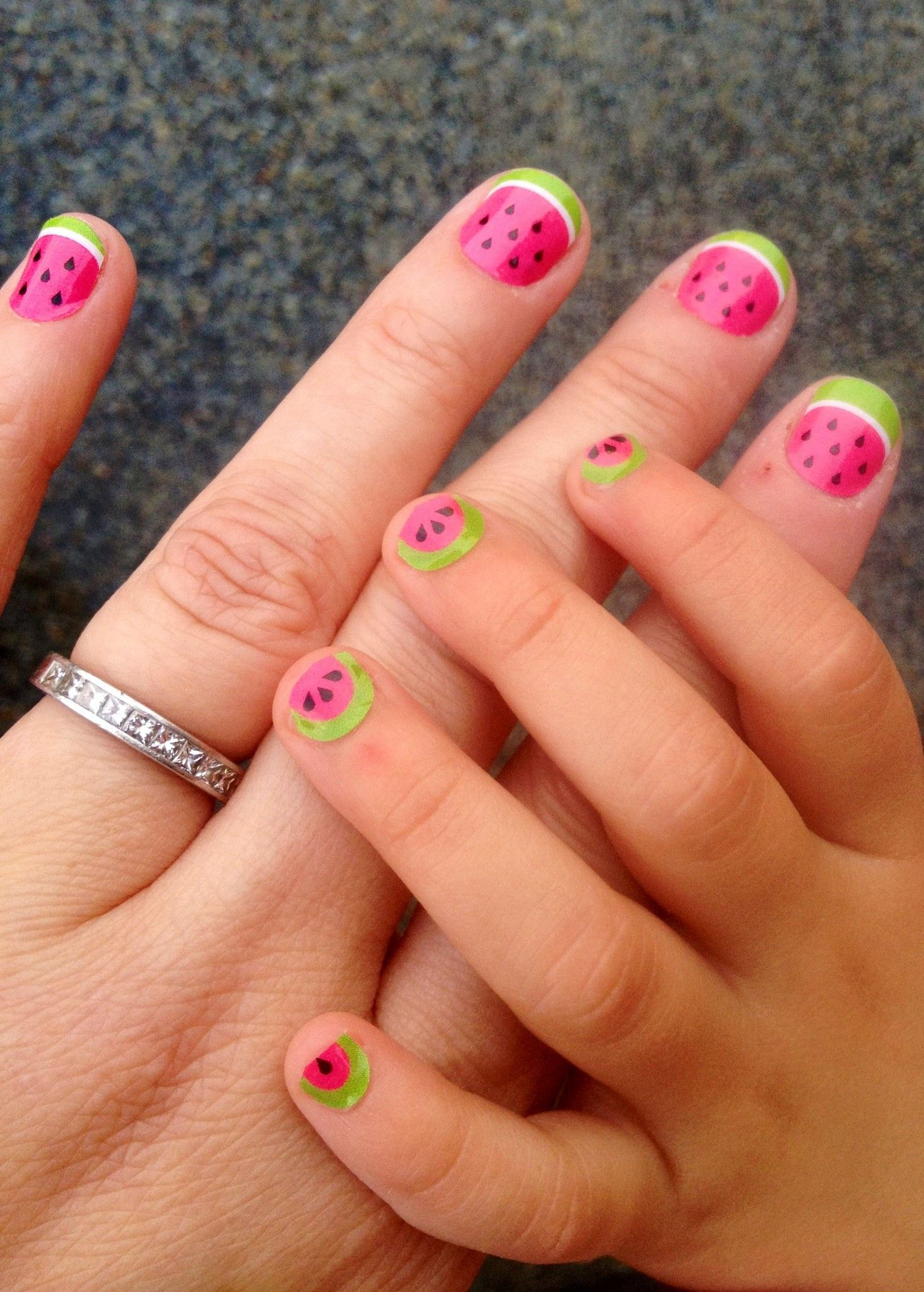 Watermelon Nails Mom Me Little Girls Nails Nailart