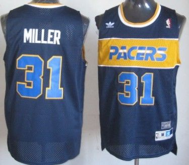 info for b3dff db9a4 indiana pacers 31 reggie miller hardwood classic navy blue ...