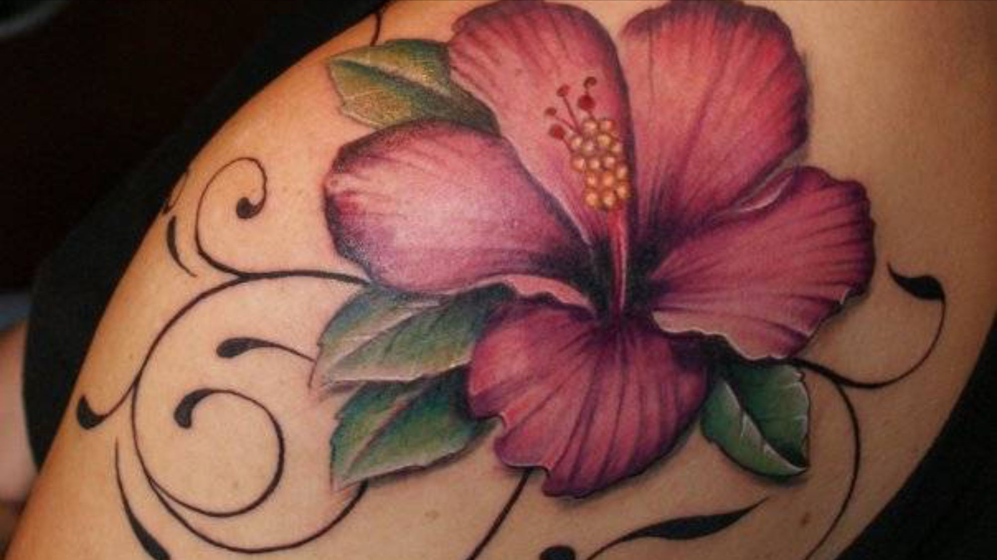 Hibiskus tattoo tattoos pinterest tattoo body art and tatting love the hibiscus but maybe a lilly instead and beautiful flower tattoo designs izmirmasajfo