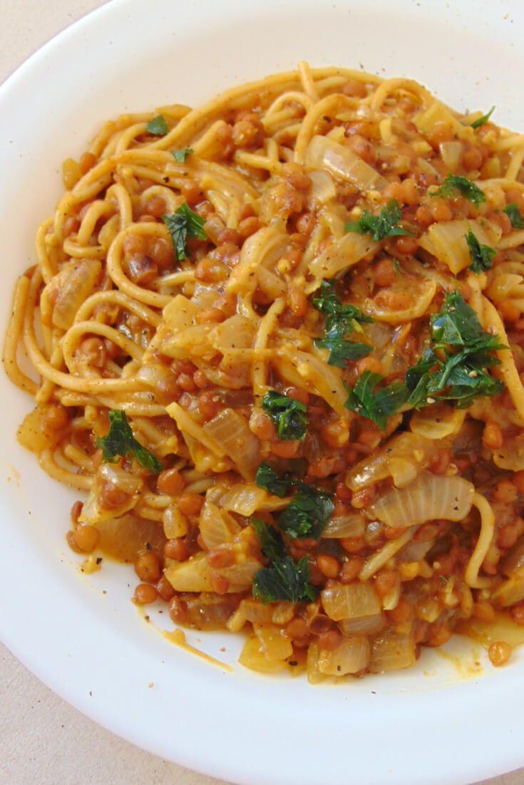 Lentejas Al Curry Con Pasta Receta De Tasty Details Receta Lentejas Receta Lentejas Patatas Con Queso