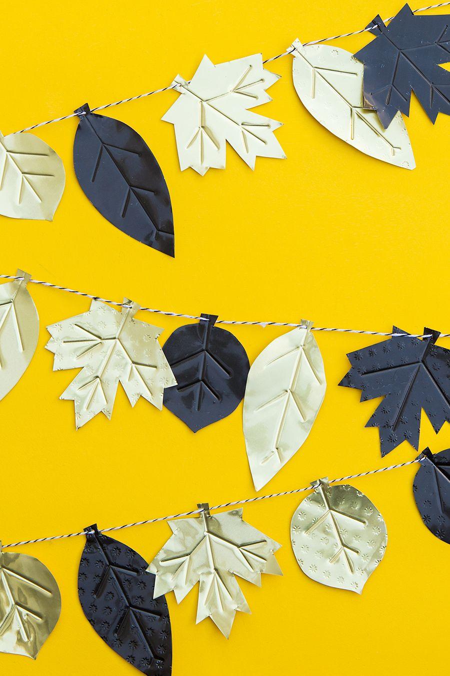 DIY Metal Fall Leaf Garland | Caída de las hojas, La hoja y El otoño