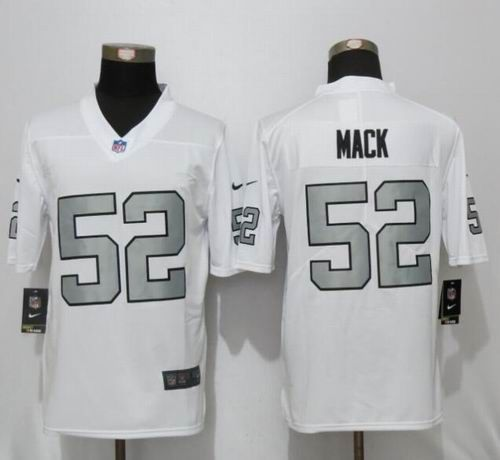 New Nike Oakland Raiders  52 Khwil Mack Navy White Color Rush Limited Jersey f8b173c94