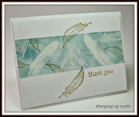 Today I'm sharing some emboss resist cards we made a few weeks ago. We used SU's set Fine Feathers. First we masked off the card, t...