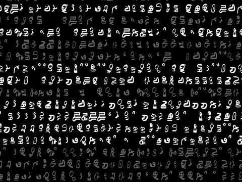 A screen of scrolling text alien letters or code video background a screen of scrolling text alien letters or code video background 1146 hd spiritdancerdesigns Images