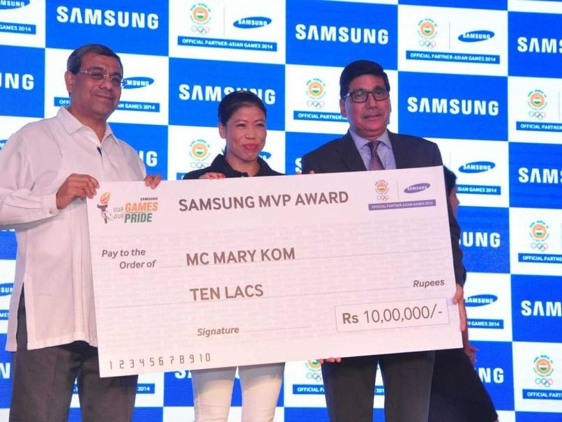 Five times World Champion #MCMaryKom, who became the first Indian woman #boxer to win a gold medal in Asian Games, was named the Most Valuable Player of the Indian Contingent that went for the 2014 #AsianGames.