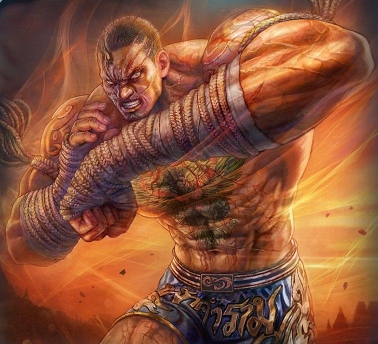 Fahkumram Illustration Tekken 7 In 2020 Artwork Martial Arts Illustration