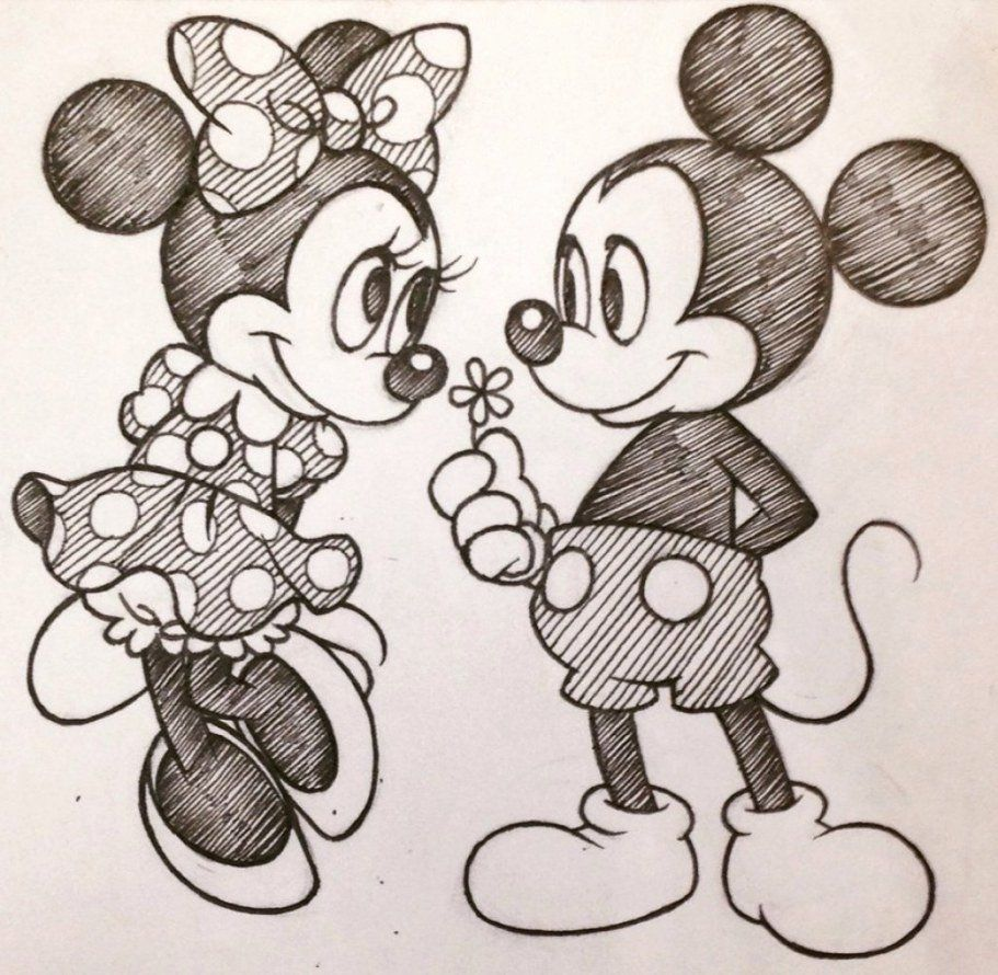 15+ New For Love Cute Mickey Mouse Pencil Drawings Easy - Sarah