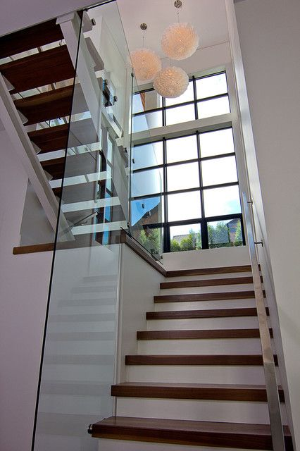 Best Lowes Stair Treads Staircase Contemporary With Glass Open 400 x 300