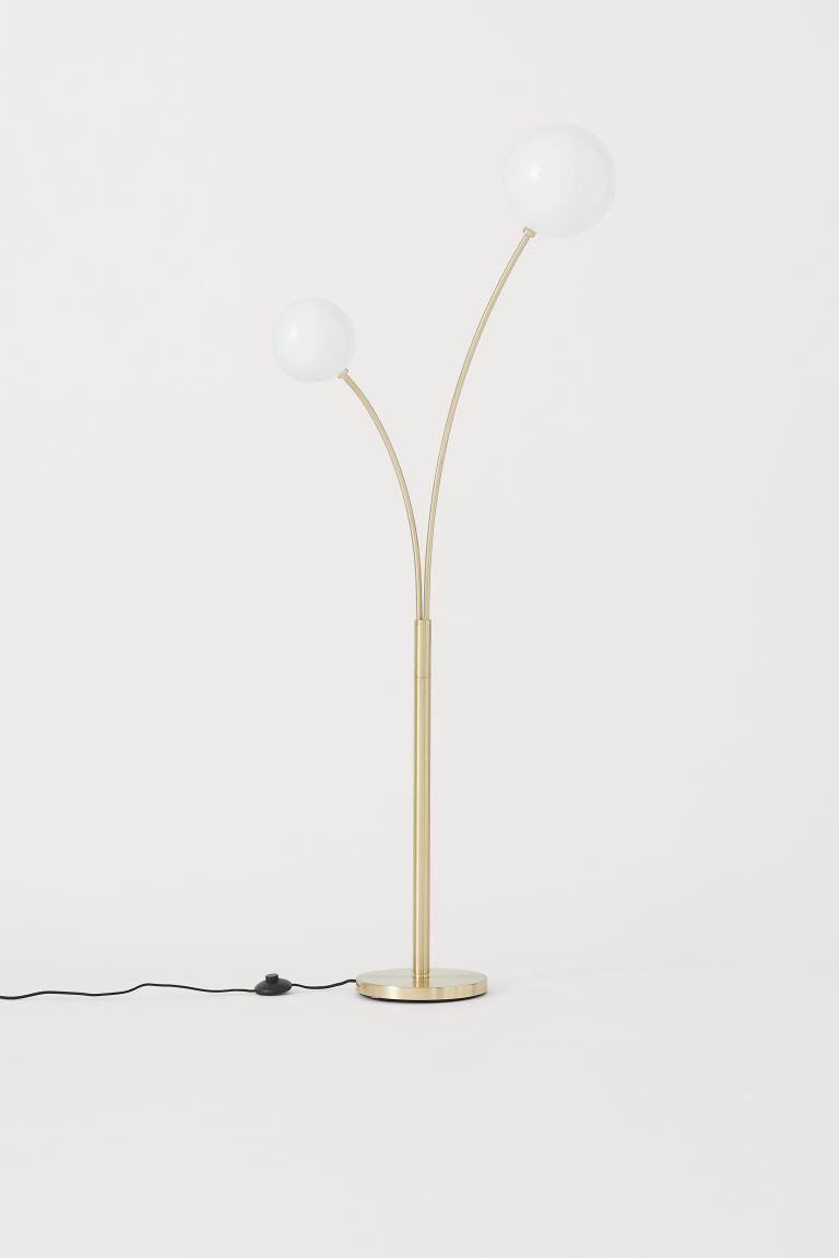 Hudson Retro Metal Standing Floor Lamp, Nickel in 2020