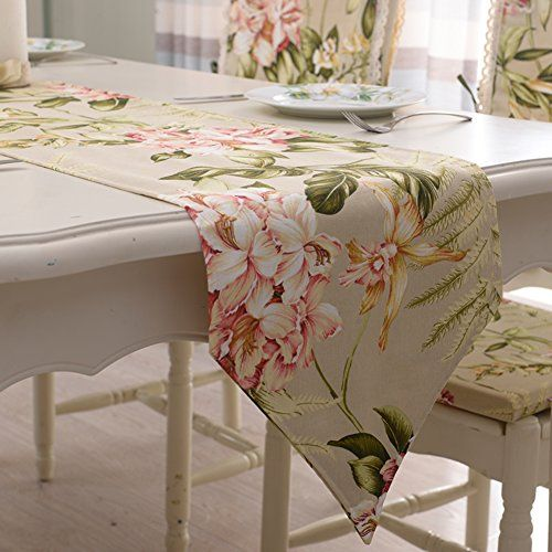 American Style Table Runner Double Thick Cotton Fabric Table Cloth
