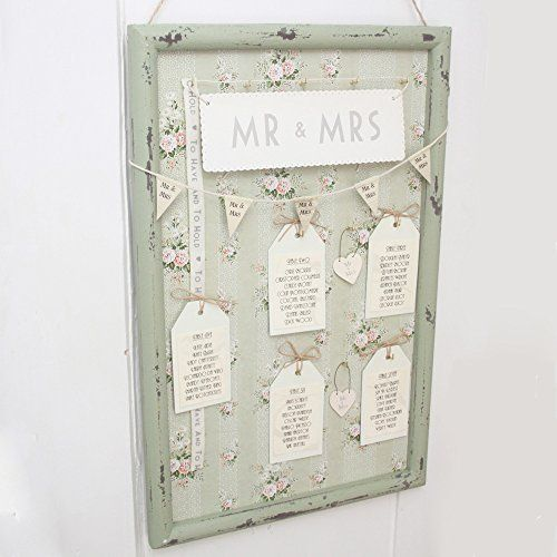 Vintage style green floral frame for wedding table plan unique vintage style green floral frame for wedding table plan unique unusual diy http junglespirit Choice Image