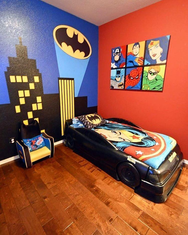 Awesome Superhero Room!Credit To @lanecrosnodesigns...   Home Decor For Kids