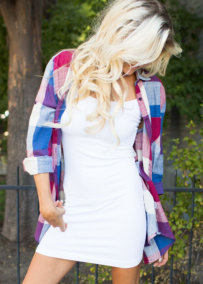 Top, Plaid Top, Mutlicolor Top, 3/4 Sleeve top, Cute, Fashion, Online Boutique