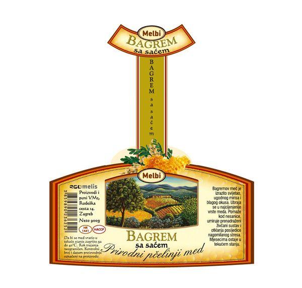 Graphic Design: Melbi Honey Label