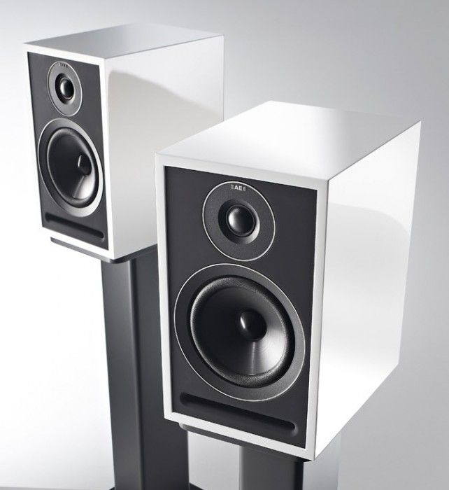 The Acoustic Energy 301 speakers are in a bookshelf design and ...
