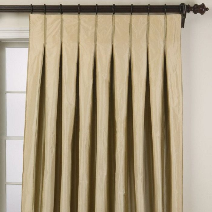Inverted pinch pleat curtains window treatments for Different styles of drapes