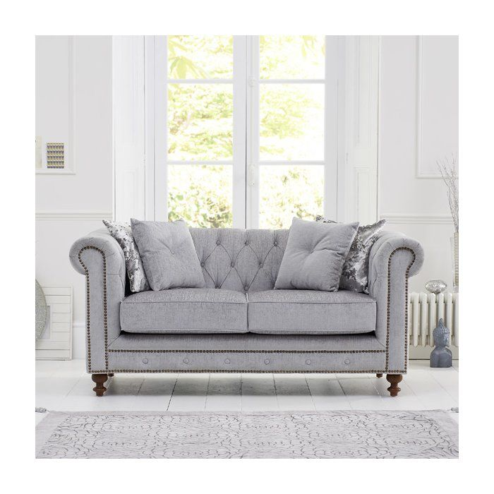 Zweiersofa Alborghus Fabric Sofa 2 Seater Sofa Oak Furniture House