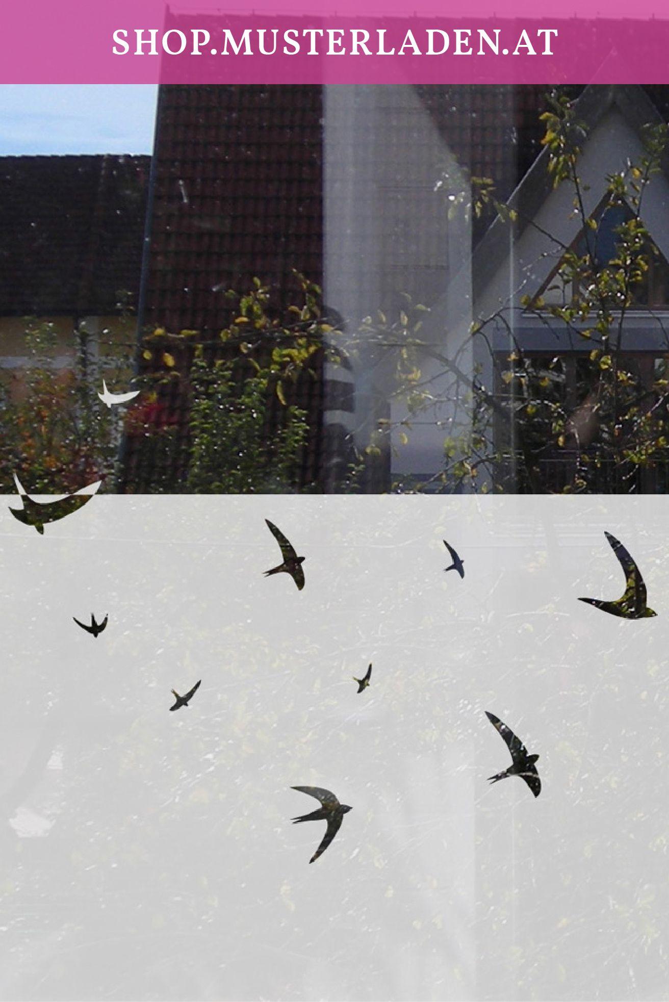Vögel Fenstertattoo Sichtschutzfolie mit Schwalben Motiv ab 70 cm