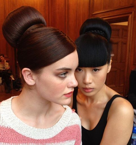 Our Beehive hair buns were applied to models by hair stylist Michael Leong during a charity fashion show. They look so elegant.