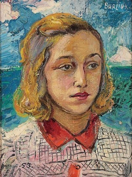 Portrait of a young woman - David Burliuk | retrato | Pinterest ...