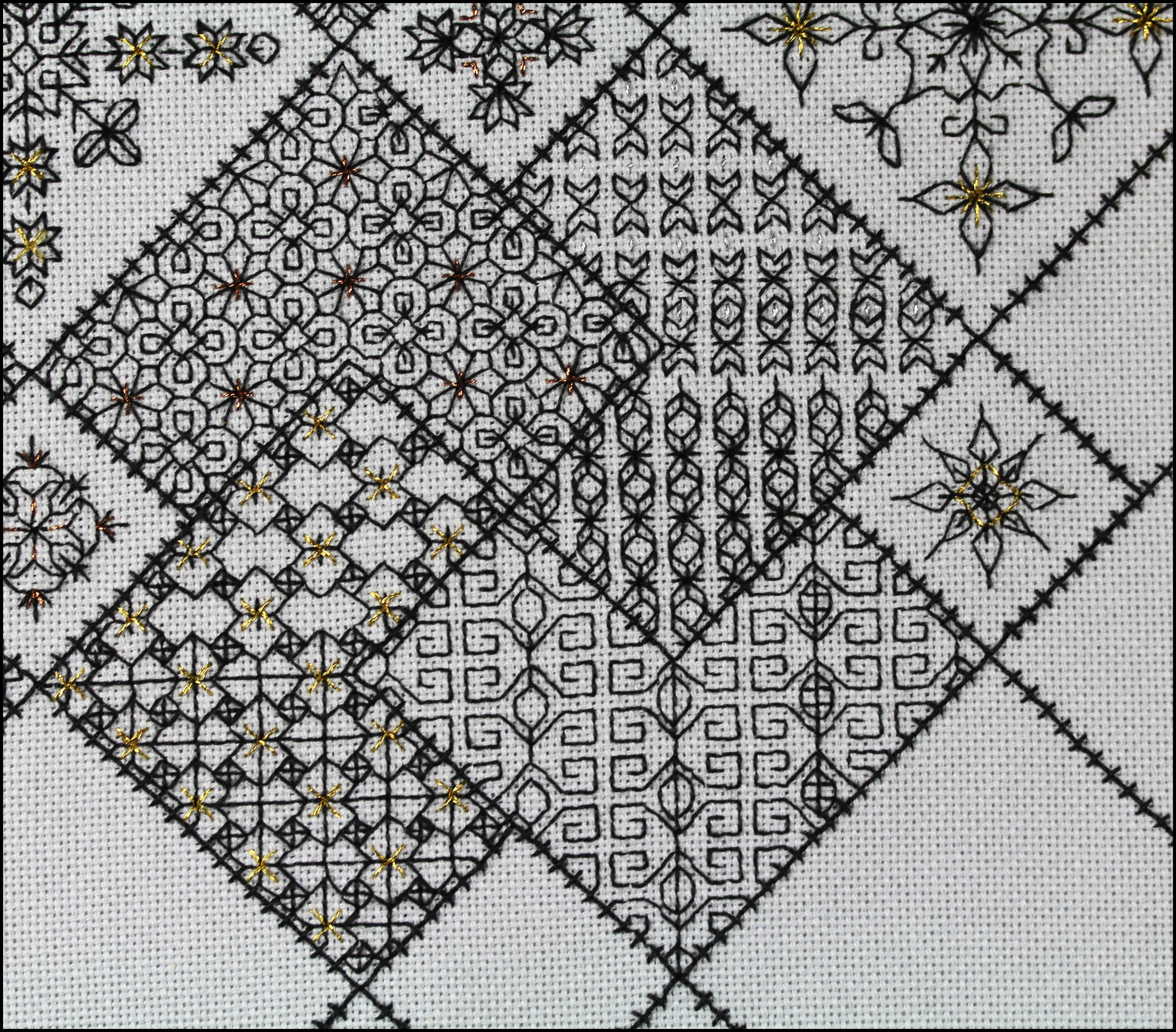Block 10 save the stitches using metallic threads add a block 10 save the stitches using metallic threads add a sparkle to blackwork bankloansurffo Gallery