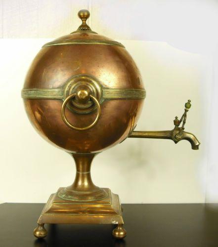 Samovar-Russe-victorien-c-1850-Victorian-russian-tea-boiler-fontaine-the