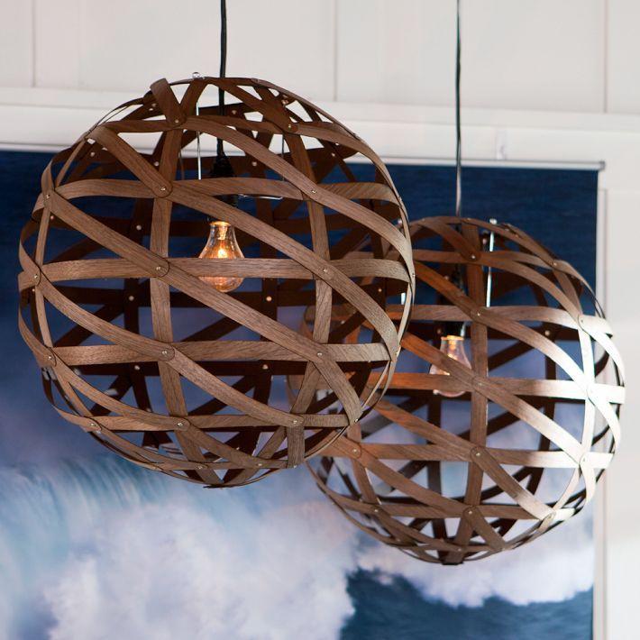 Beautiful spherical pendant made of veneer pendants lights and beautiful spherical pendant made of veneer mozeypictures Images