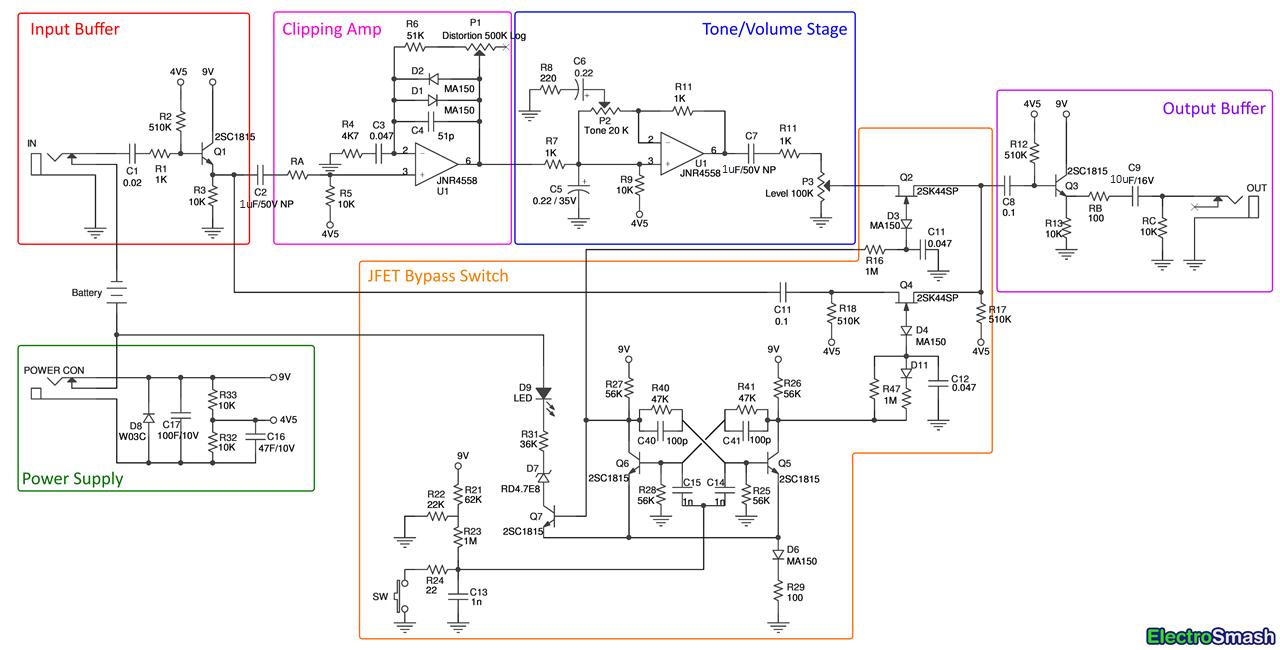 tube screamer block diagram [ 1280 x 650 Pixel ]