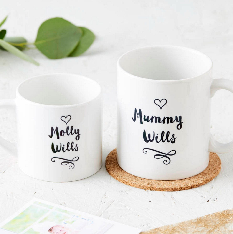 Personalized mugs cheap uk - New Family Personalised Mug Set