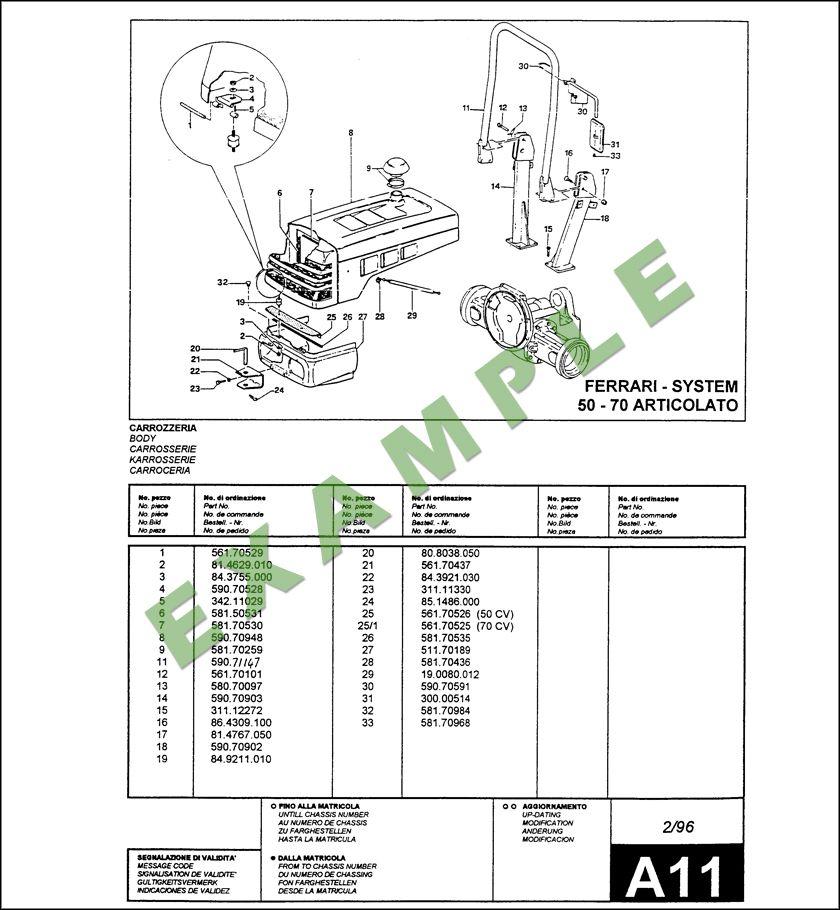 Ferrari System 50-70 AR Parts Manual Download in 2020