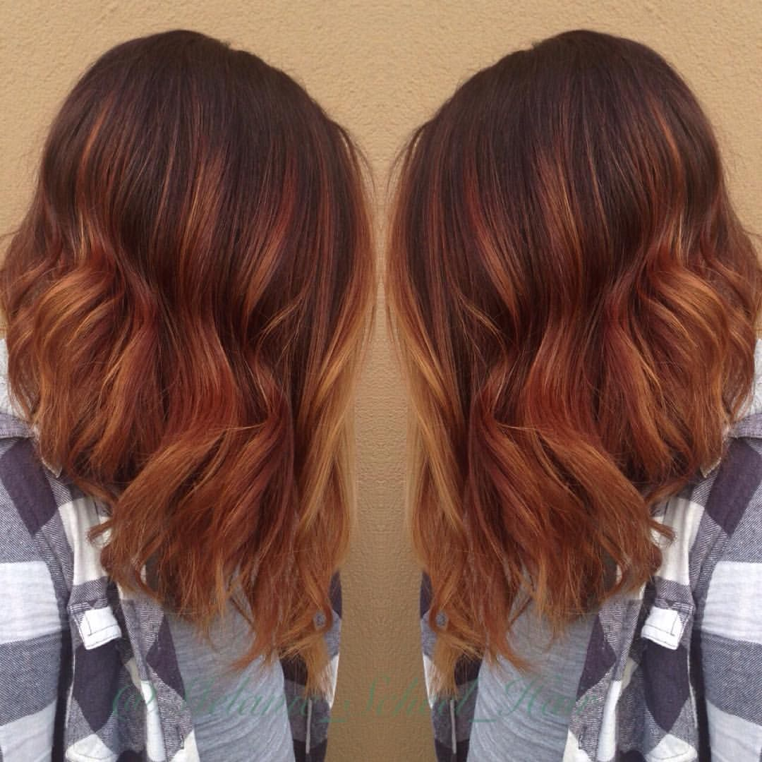 Took carly reneelynn to a brighter balayaged copper today for Ombre mittellang