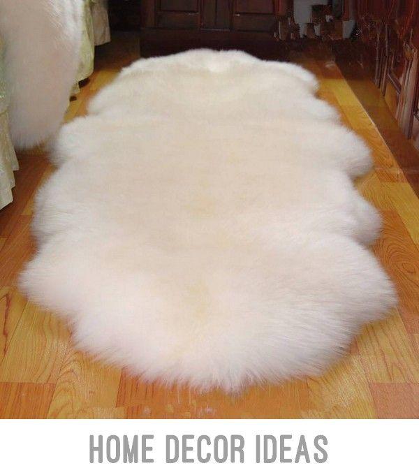 Carpet Mats  Australian 100% Real Wool Carpet Rugs Chair Cover Pad Sheepskin In Living Room Floor Mat #HomeDecor #newhomedecoration #bedroomideas #officedecor #aparmentdecor #beautifulhomedecorideas