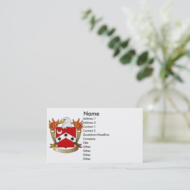 Carr Family Crest Business Card #AD Crest, #Business, #Card, #Shop, #Carr