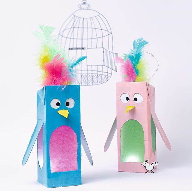 """Pia Deges on Instagram: """"Diese zwei verrückten Vögel fliegen vollauf St.Martin! Ausder Reihe: Tetrapack wird Laterne..... . . . . � by @lichtpunkt.cc für…"""""""