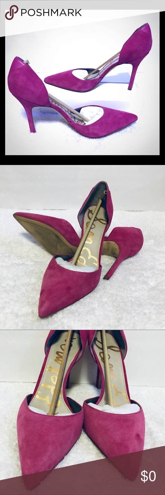 c43754a4971 Sam Edelman Delilah Pink Pointed Suede Heels 10 Very good pre-owned  condition Sam Edelman