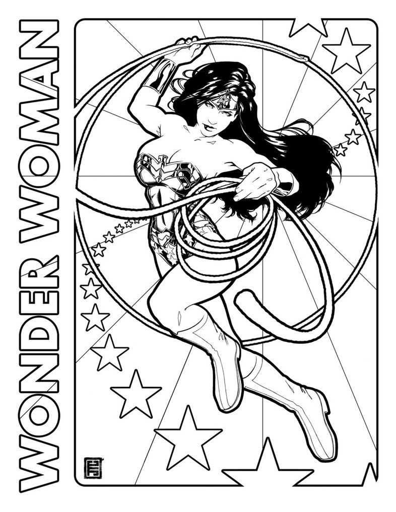 Wonder Woman Day Coloring Page By Johntylerchristopher On