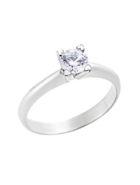 Μονόπετρο Δαχτυλίδι Λευκό με Ζιργκόν 14Κ Αναφορά 023246 Ένα πανέμορφο  δαχτυλίδι (μονόπετρο) που μπορείτε 9a24c51aa2f