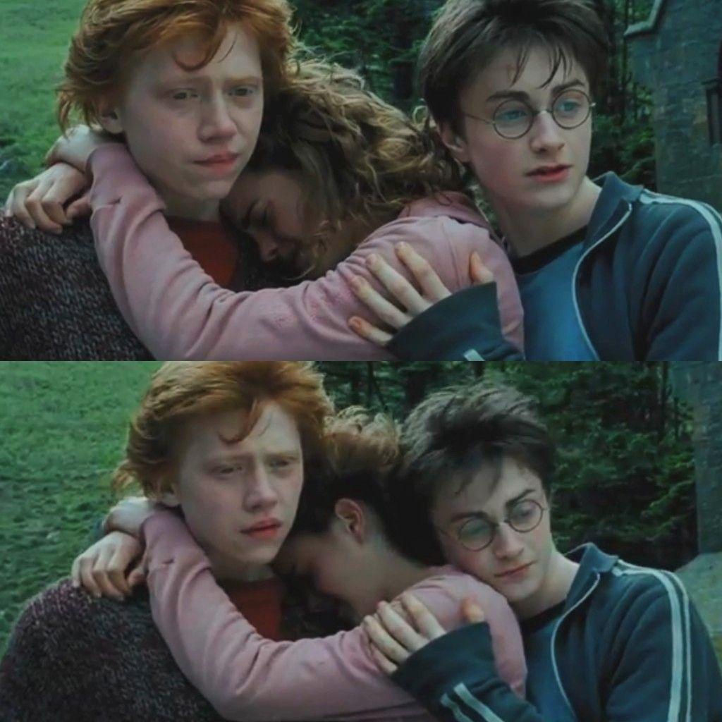 The Golden Trio Harry Potter Ron Weasley Harry Potter 3rd Movie Slytherin Harry Potter