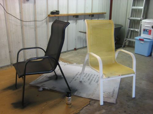 Spray paint for metal outdoor chairs